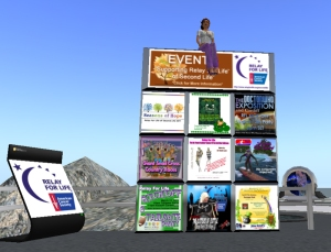Relay for Life of Second Life 2011 Event Board