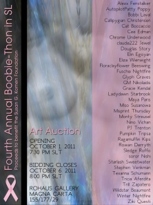 BoobieThon Art Auction Poster
