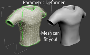 Mesh and the parametric deformer