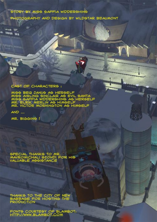 Christmas in New Babbage: The Credits