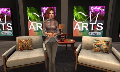 Gwen Carillon in the new Metaverse Arts Studio
