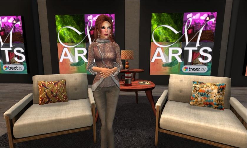 Gwen Carillon in the new Metaverse Arts Studio