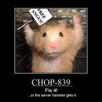 CHOP-839 - Fix It!