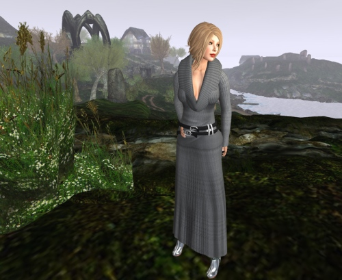 All in Mesh: Dress by Tres Beau; Hair by Truth; Boots by Gos