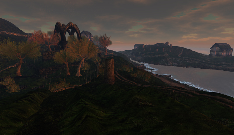 Inis Caiseal - stormy days for Second Life