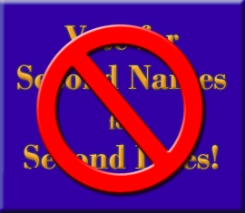 No to Second Names for Second Lives