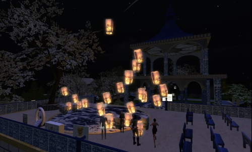 Lantern Release on the Prim Perfect stage