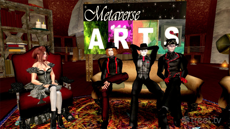 Steam Powered Giraffe And Destany Laval On Metaverse Arts Prim