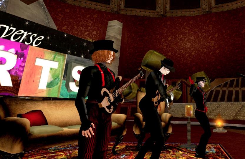 Steampunk Giraffe perform on Metaverse Arts