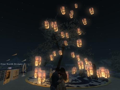 Watching the lanterns rise