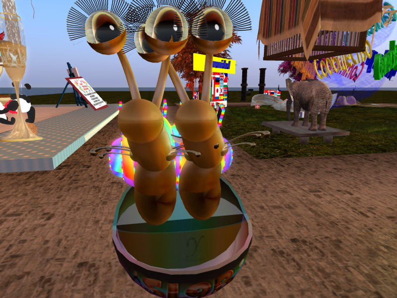Snails visiting SL9B by pod car!
