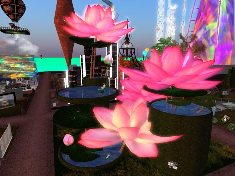 Tara Yates' Lotus Flowers - with bunnies