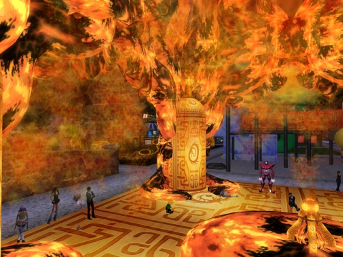 Another view of the Burning Temple created by Grendel's