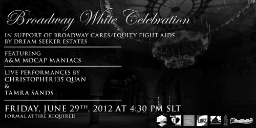 Broadway White Celebration: Friday 29th June at 4.30pm