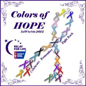 Logo for Relay for Life in Inworldz 2012