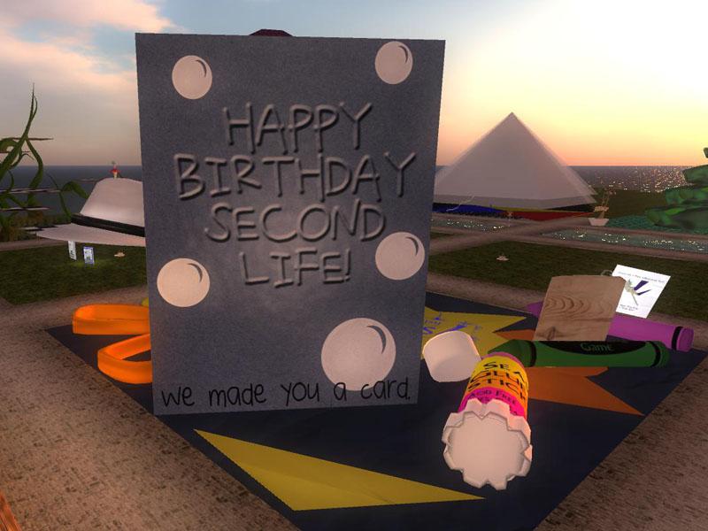 7Seas at SL9B - we made you a card!