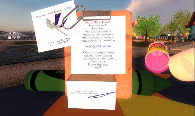 7Seas at SL9B - information and fun free gifts