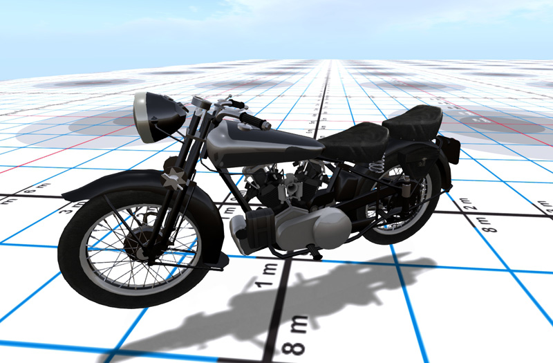 Followmeimthe Piedpiper's lovely Brough motorcycle - a mesh vehicle
