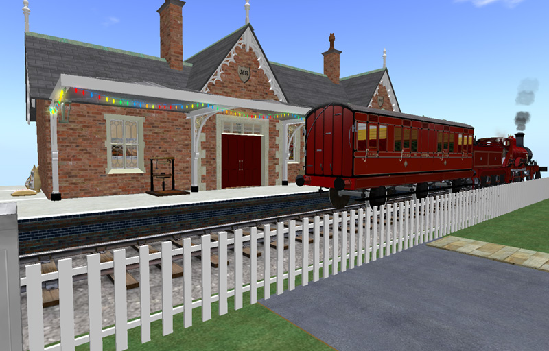 The train waits in the station (but the station is now a pub!)
