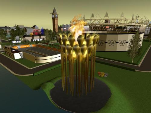 The Olympic Cauldron at the London Community