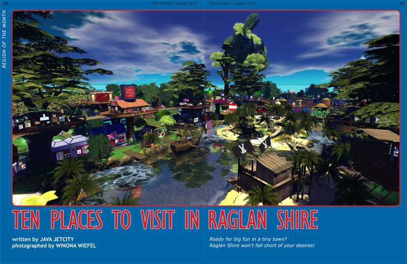 Ten Places to visit in Raglan Shire - article on Page 44