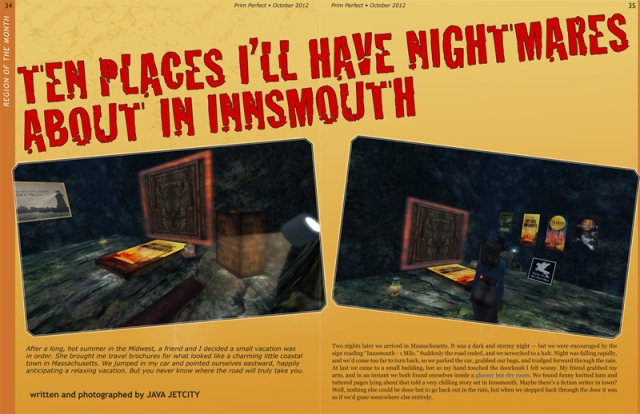 Prim Perfect No.43: October 2012 - Ten Places in Innsmouth by Java Jetcity