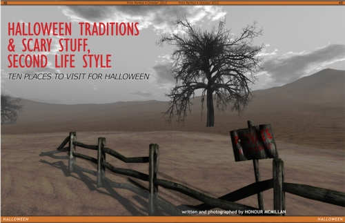 Prim Perfect No.43: October 2012 - Halloween Places to Visit - from Honour Macmillan!