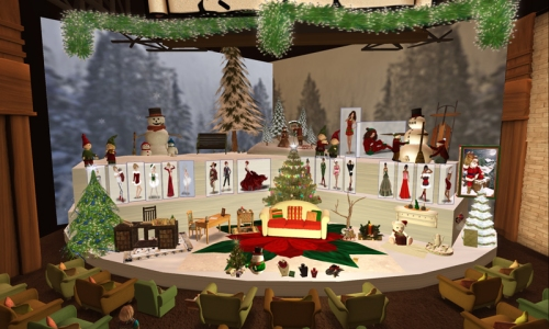 Happy Hunting Studio - decorated for Christmas!