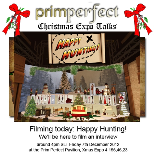 Happy Hunting Filming at the Xmas Expo