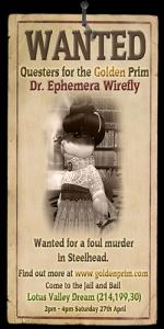 Wanted: Dr Ephemera Wirefly