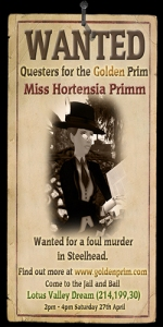 Wanted: Miss Hortensia Primm
