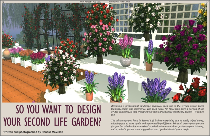 Prim Perfect May 2013 - Designing a Garden