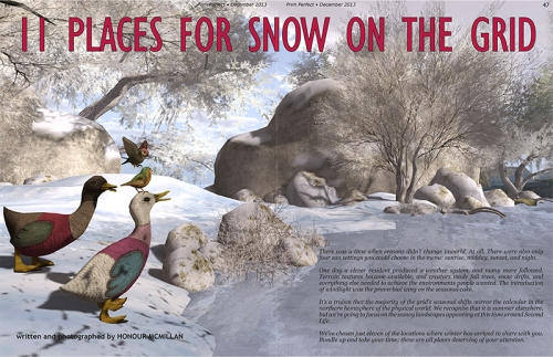 Prim Perfect Issue No.50 - December 2013: Honour McMillan finds 11 Places for Snow
