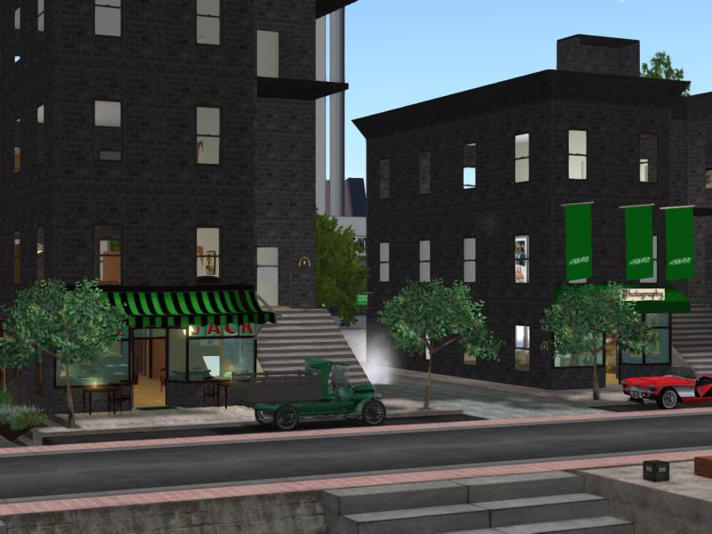 The Brownstones in Nova Albion - apartments, cafe and arts