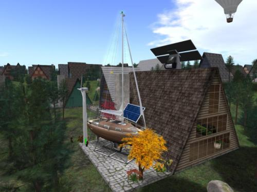 The Creativity of ocean-loving, energy-consciousSecond Life Residents when given a small house and 117 prims!