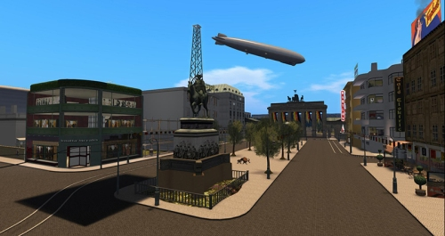 1920s Berlin - with airship!