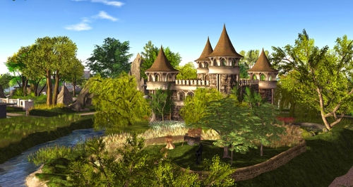 Prim Perfect Castle at the Home and Garden Expo, photographed by Wildstar Beaumont