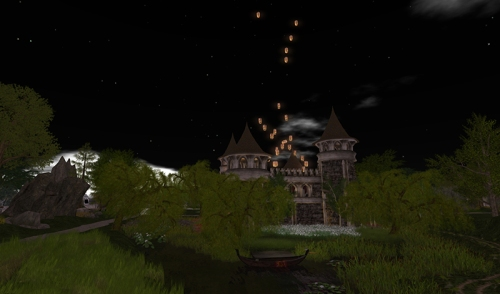Lantern Ceremony at the Prim Perfect Castle