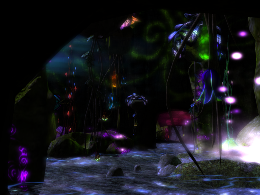 A Cave of Elicio's beautiful plants on Night Whispers