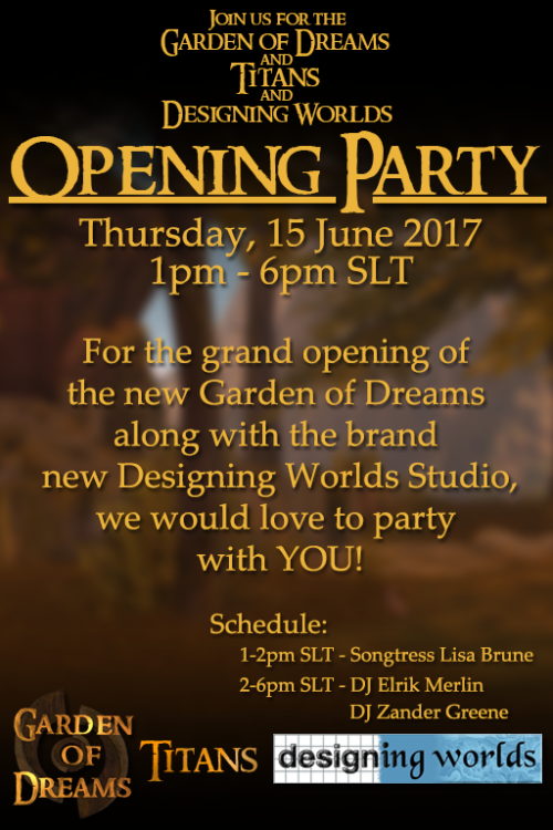 Garden of Dreams Opening Party Invitation