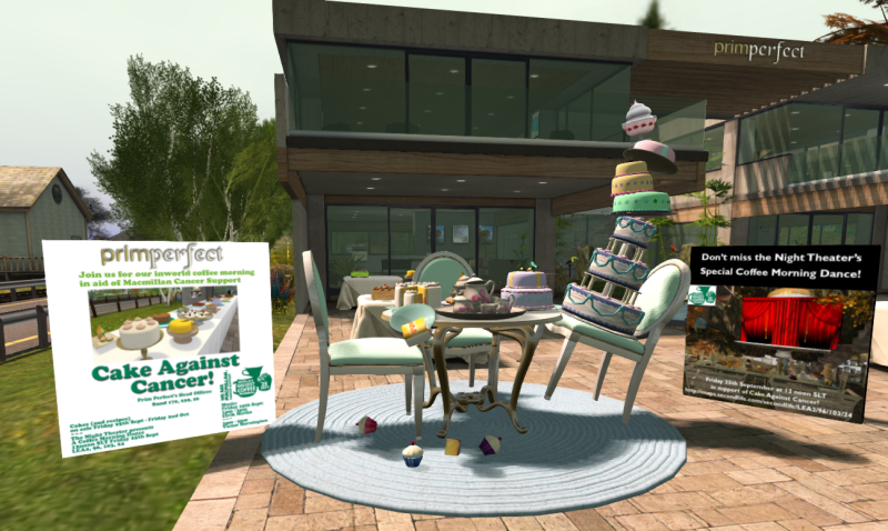 Cake Against Cancer: Macmillan Coffee Morning in Second Life - 2015