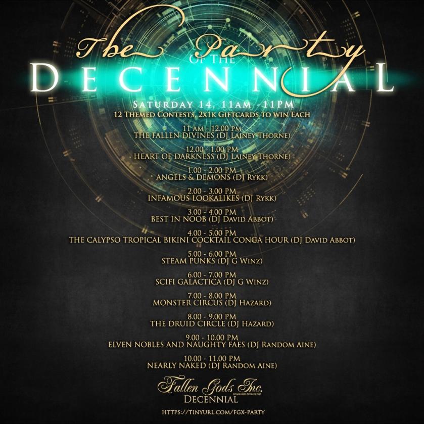 Decennial Party Poster
