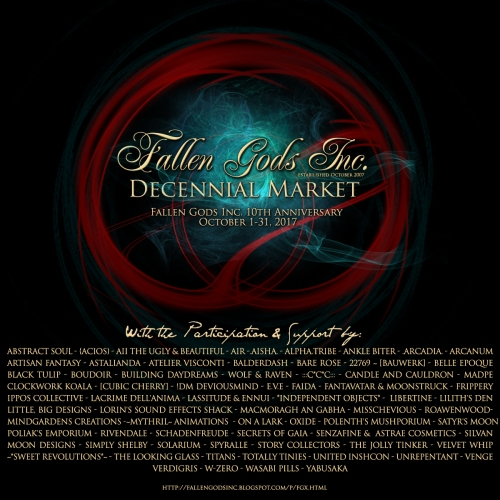 Fallen Gods Decennial Marketplace Poster