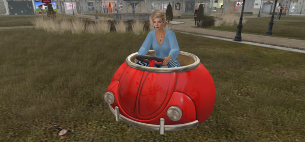 Culprit's cute bubble car