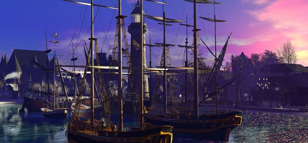 Ships in Rosehaven, photographed by Wildstar Beaumont