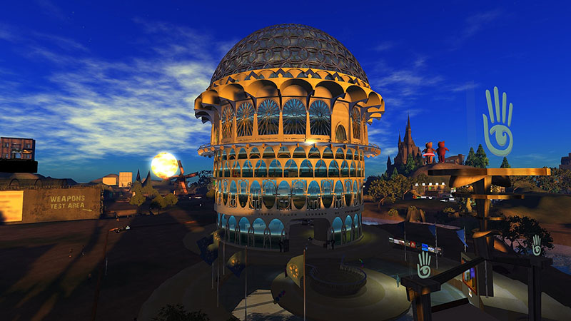 Ivory Tower of Prims, photographed by Wildstar Beaumont, built by Lumiere Noir, sadly no longer with us