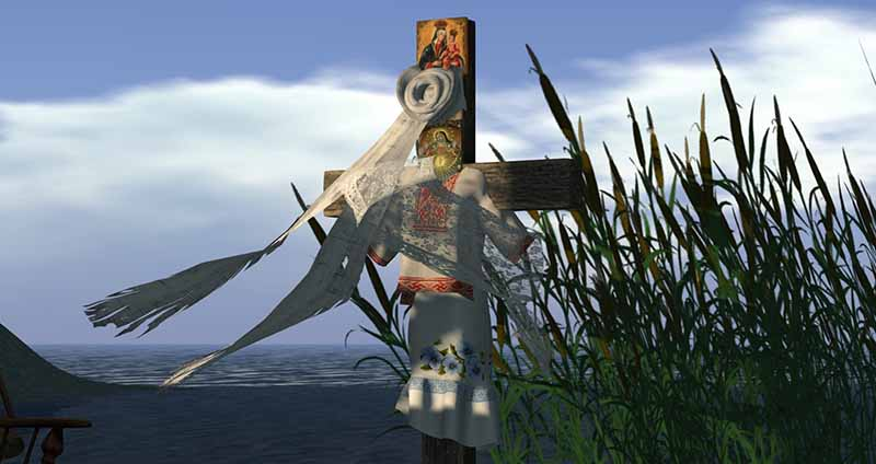 Second Life Public Land Preserve - the Female Cross, photographed by Wildstar Beaumont