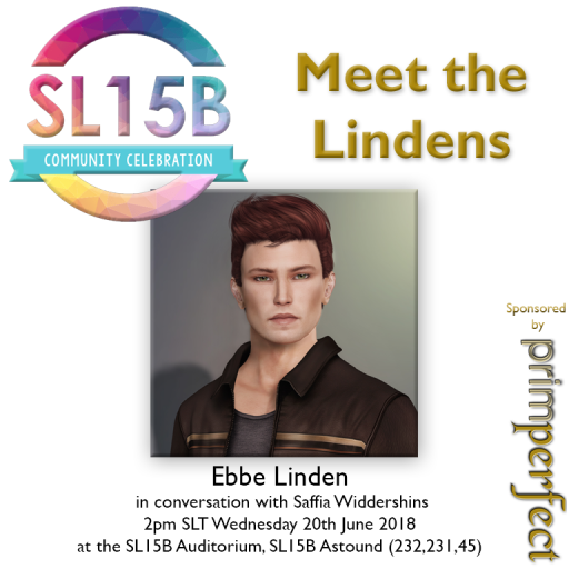 Ebbe Linden, 2pm SLT, Wednesday 20th June, 2018