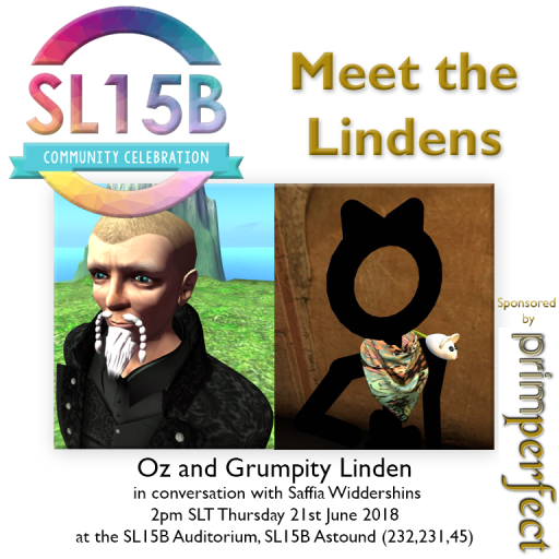 Oz and Grumpity Linden, 2pm SLT, Thursday 21st June, 2018