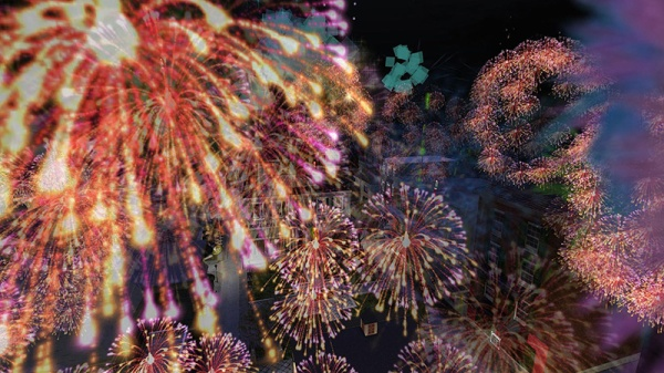 Fireworks, photographed by Wildstar Beaumont